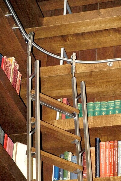 SL.6005.AK Vario Telescoping Library Ladder