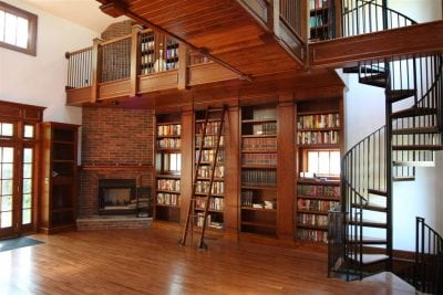 Wood Library Ladder